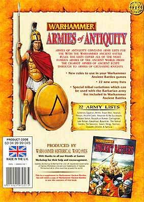 Warhammer Ancient battles - armies of antiquity