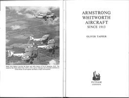 Armstrong Whitworth Aircraft Since 1913
