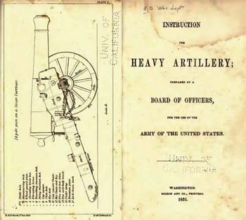Instruction for Heavy Artillery [Gideon & Co. 1851]