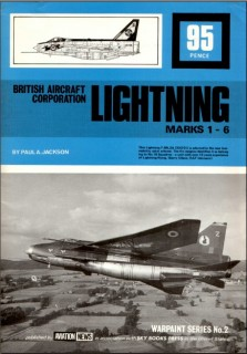British Aircraft Corporation Lightning Marks 1-6 (Warpaint Series No. 2)
