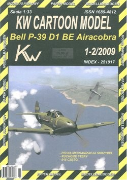KW Cartoon Model 1-2/2009 Bell P-39D Airacobra