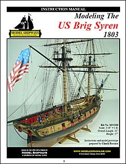 US Brig «Syren», 1803 (Instruction manual)