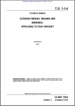 TO 1-1-4 Technical manual exterior finishes, insignia and markings, applicable to usaf aircraft