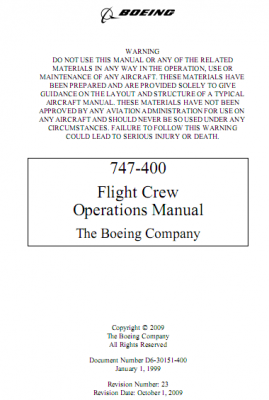 Boeing 747-400 Flight Crew Operations Manual
