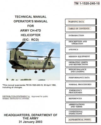 Technical manual, Operator's manual for Army CH-47D helicopter TM 1-1520-240-10