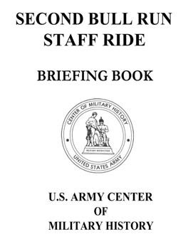Second Bull Run Staff Ride. Briefing Book