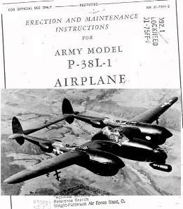 Erection and maintenance Instructions for Army model P-38L-1 Airplane. Part 2