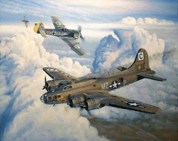 WW2 American USAAF Heavy Bomber B-17 Flying Fortress in Colour - Aircraft & Crew