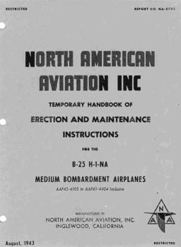 Temporary Handbook of Erection and Maintenance Instructions for the B-25 H-1-NA Medium Bombardment Airplanes