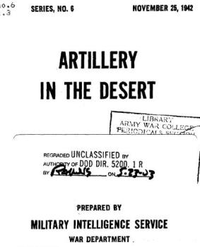 Artillery in the Desert. Special Series No. 06
