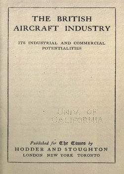 The British Aircraft Industry