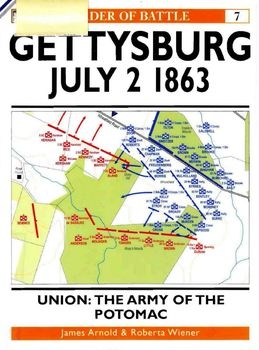 Gettysburg July 2 1863. Union: The Army of the Potomac (Osprey Order of Battle 07)