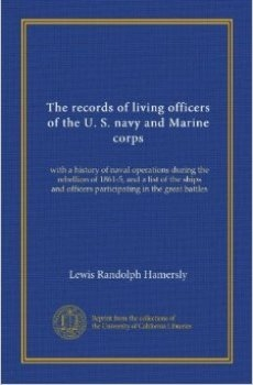 The records of living officers of the U.S. navy and Marine corps