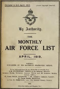 The Monthly Air Force list 1919-04