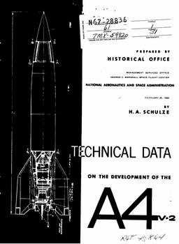 Technical Data on the Development of the A-4 (V-2)