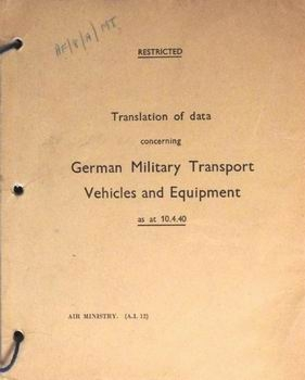 German Military Transport Vehicles and Equipment