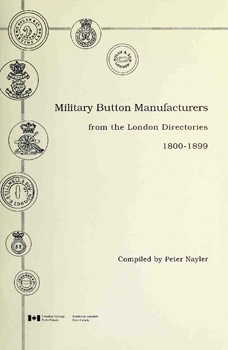 Military Button Manufacturers From the London Directories 1800-1899