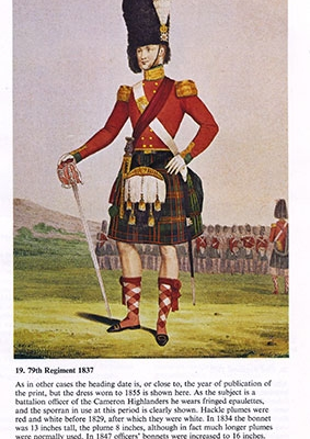 Uniform of the Scottish Infantry 1740 to 1900