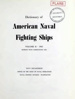 Dictionary of American Naval Fighting Ships vol II