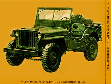 Maintenance manual for Willys truck, 1/4 ton 4 X 4, model MB