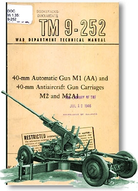 40-mm Automatic Gun M1 (AA) and 40-mm Antiaircraft Gun Carriages M2 And M2A1