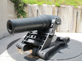 "US 12"" Model 1890M1 Coast Defense Mortar on the Model 1896M1 Mount Walk Around"