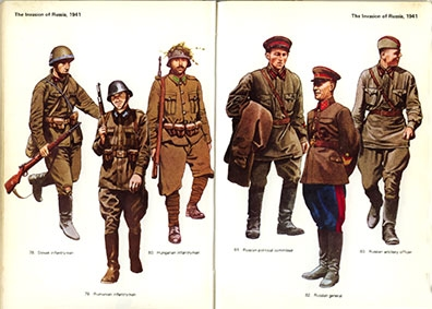 Army Uniforms of World War 2 (Blandford Colour Series)