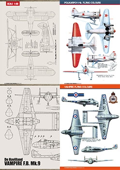 Flying Scale Models 2018: Scale Drawings and Colors