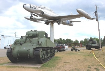 Michigan Gate Guards, Outside Museum Displays and Air Parks Photos