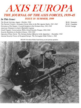 Axis Europa: The Journal of the Axis Forces 1939-1945 Issue 18 Summer 1999